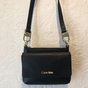 Calvin Klein Black Leather Crossbody Bag